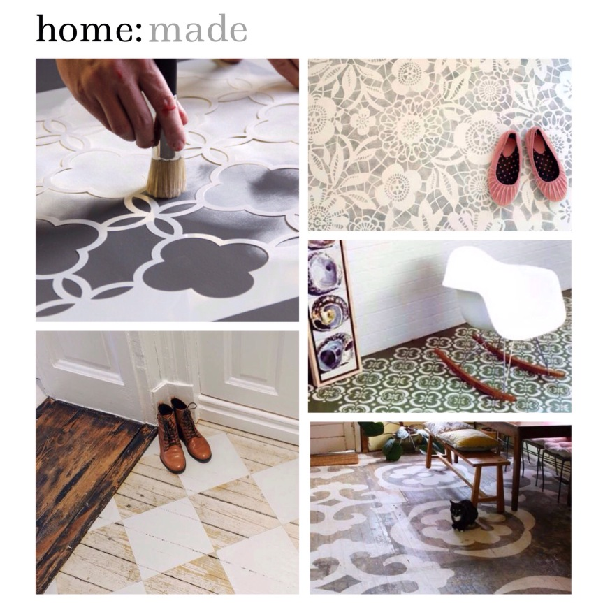 home: made [ stencilled floors]