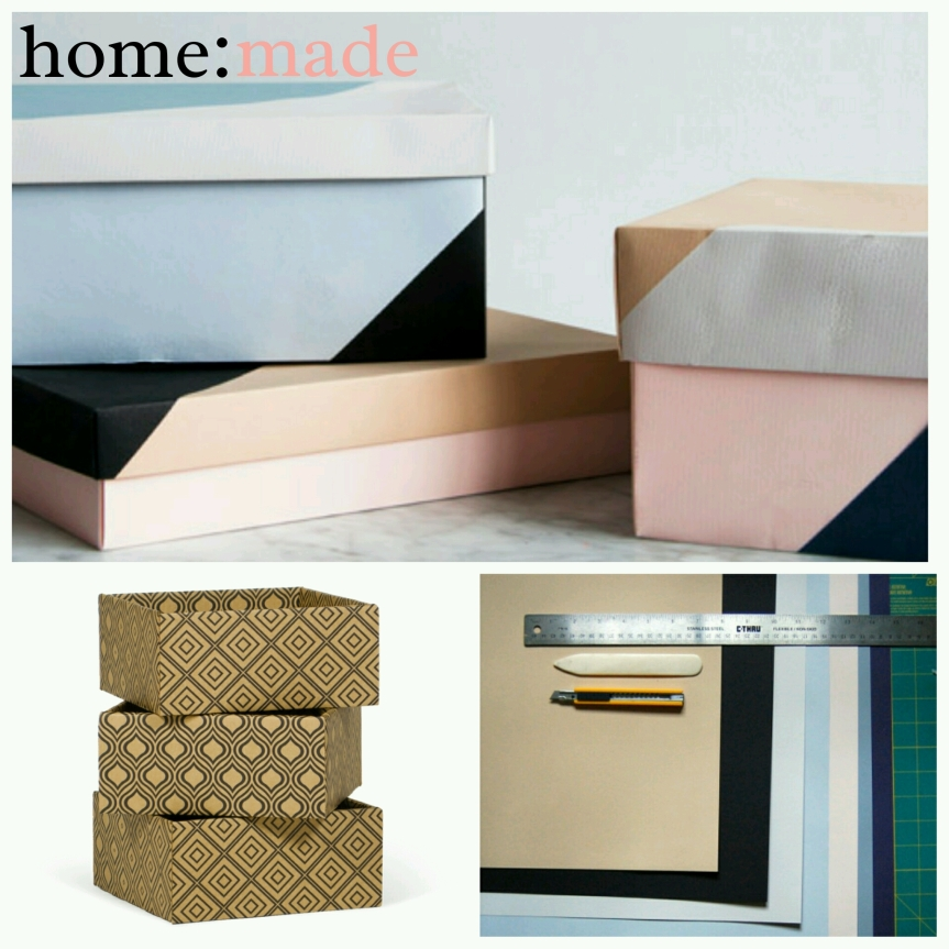 home: made [ storage boxes ]