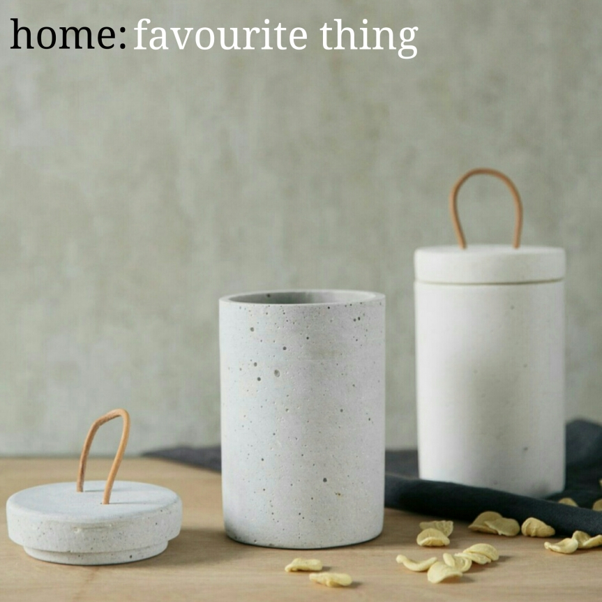 home: favourite thing [ concrete jar ]