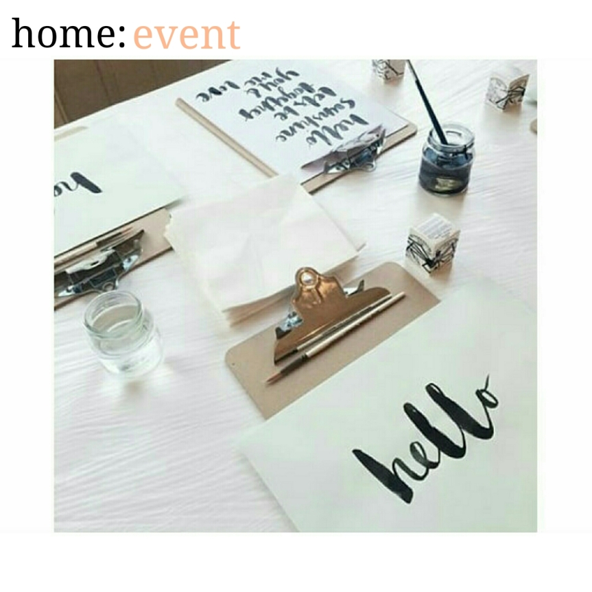 home: event [ calligraphy ]