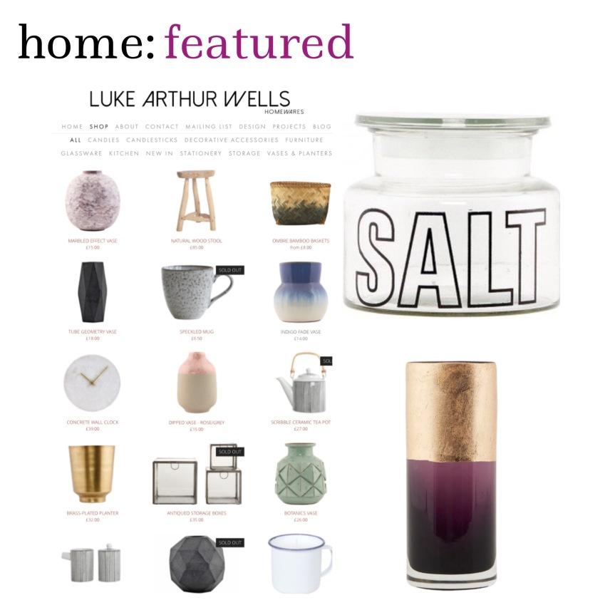 home: featured [ Luke Arthur Wells ]