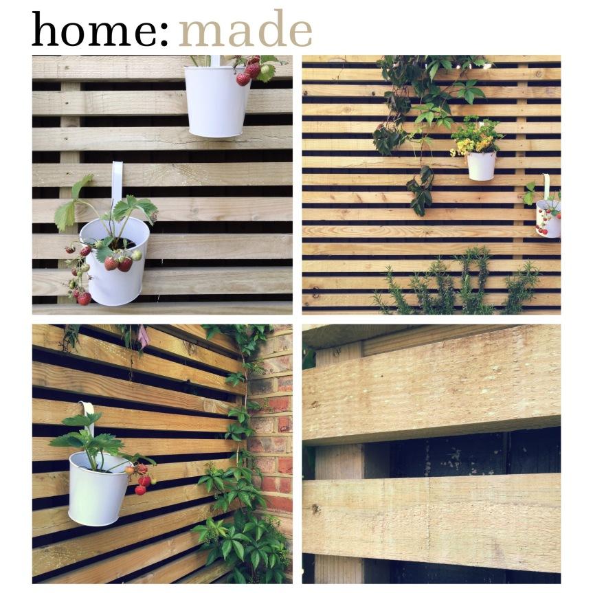 home: made [ garden fencing / hanging garden ]
