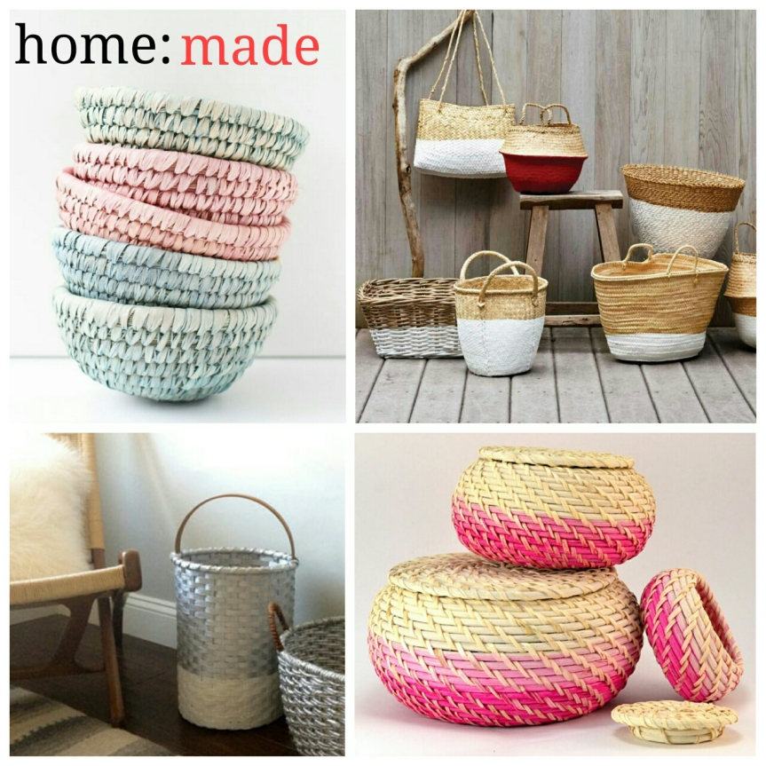 home: made [ dipped baskets ]