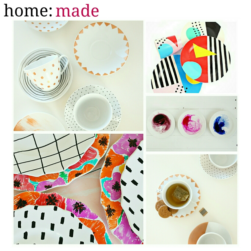 home: made [ hand painted tableware]