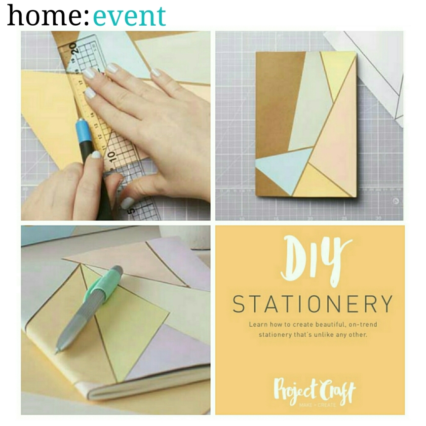 home: event [ DIY stationary ]