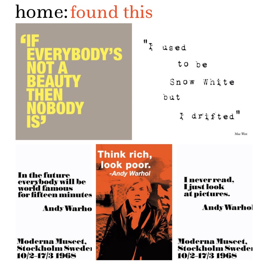 home: found this [ typography prints ]
