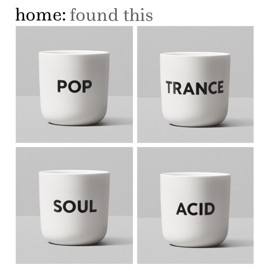 home: found this [ playtype 'beat' mugs ]