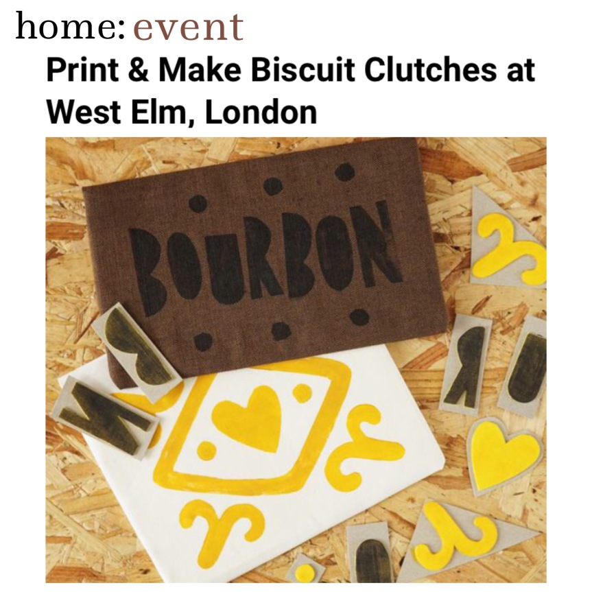 home: event [ print and sewing workshop ]