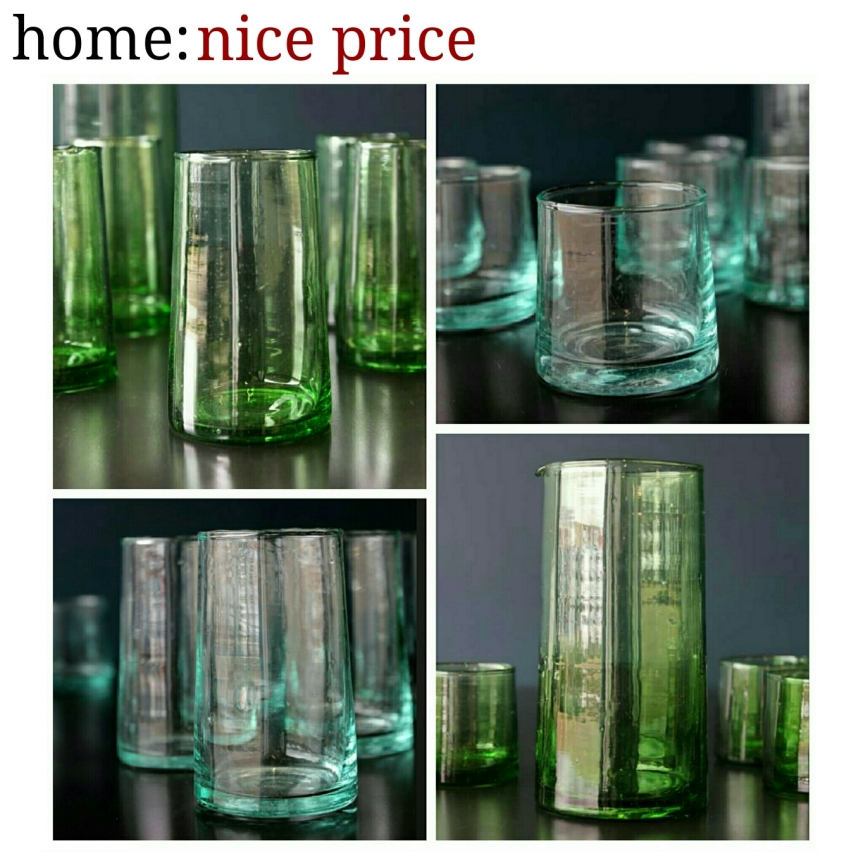 home: nice price [ recycled glasses ]