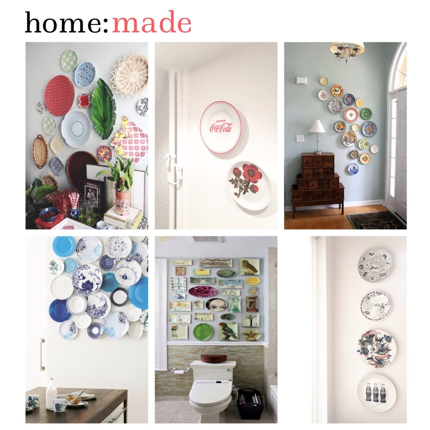 home: made [ plate wall ]