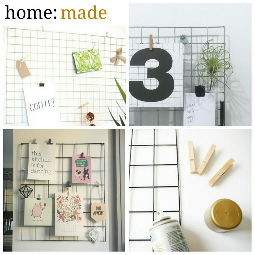 home: made [ wire memo board]