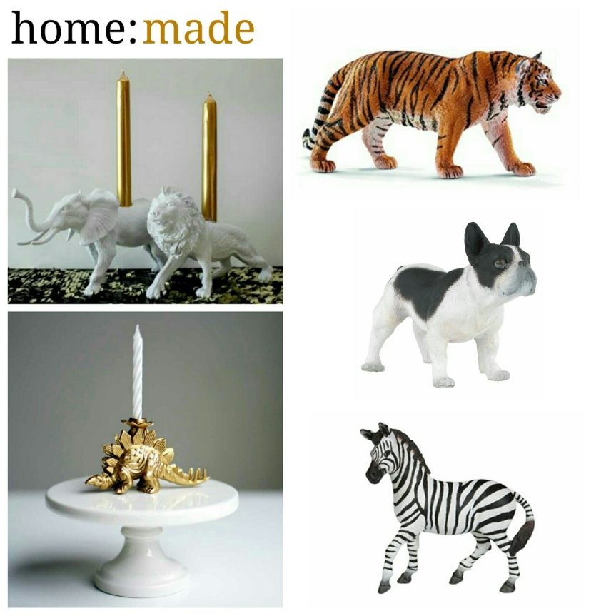 home: made [candle holders]