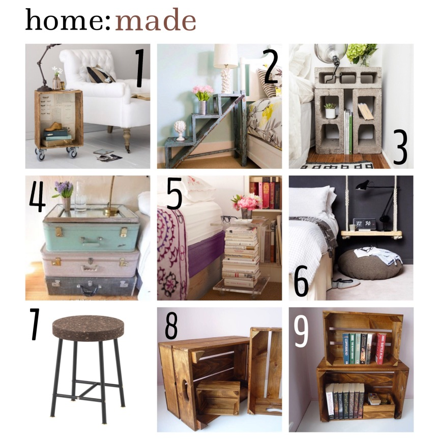 home: made [ bedside tables ]