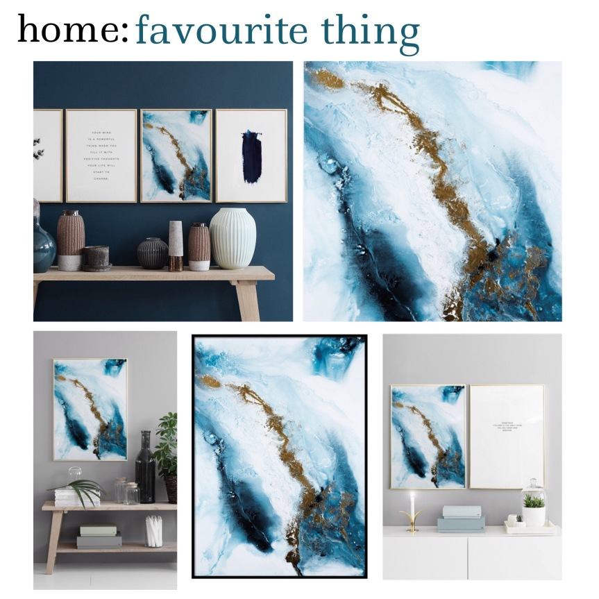 home: favourite thing [ poster print ]
