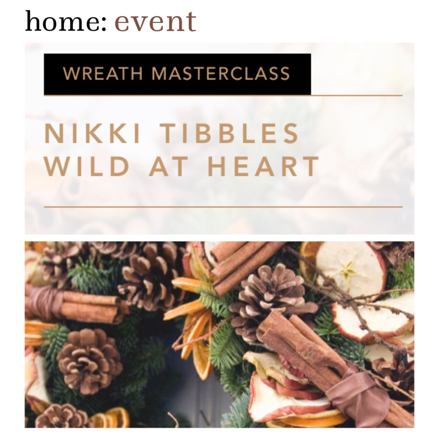 home: event [ winter floral wreath workshop ]