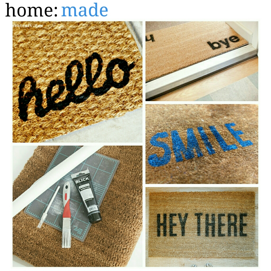 home: made [ printed doormat ]