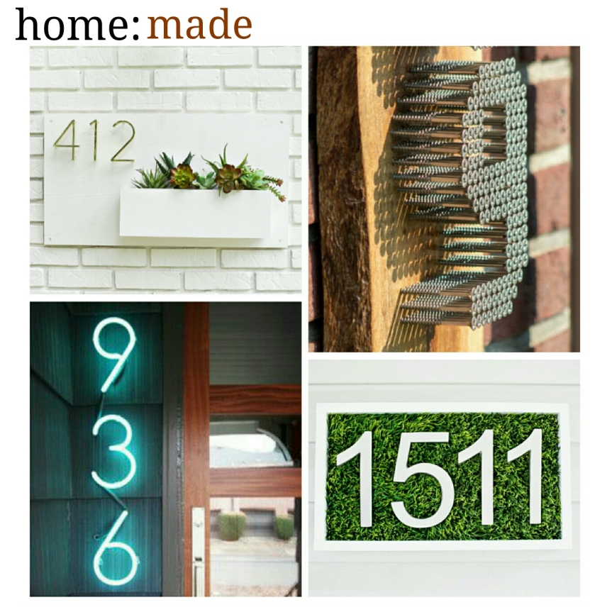 home: made [ house numbers ]
