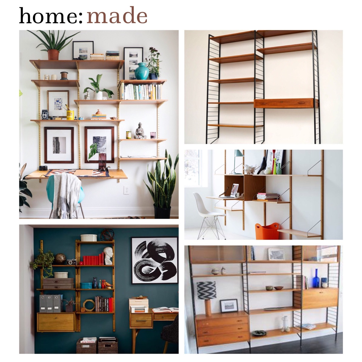 Home made midcentury shelving home blog for B q living room shelves