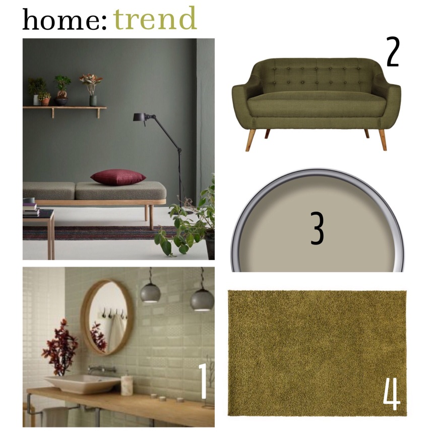 home: trend [ olive green ]