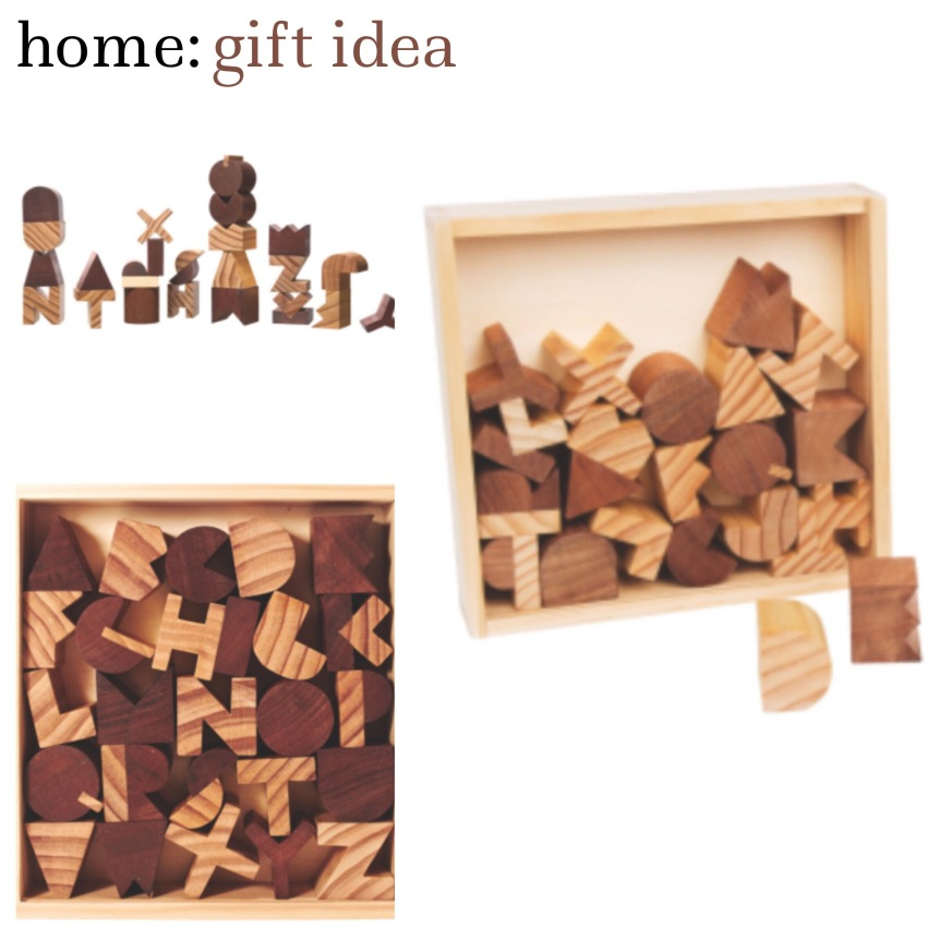 home: gift idea [ wooden ABC ]