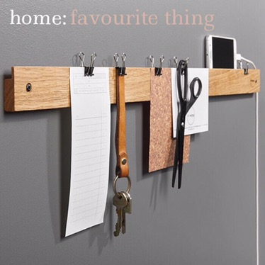 home: favourite thing [ bulletin rack ]