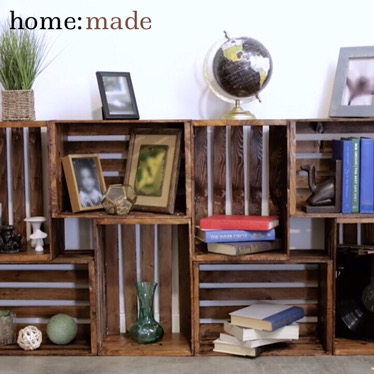 home: made [ crate shelving ]
