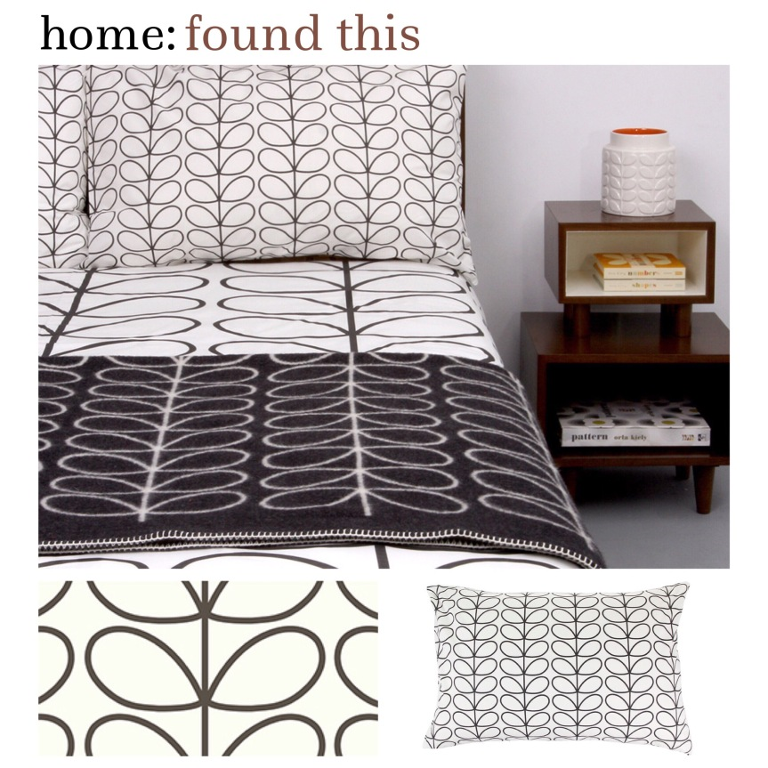 home: found this [ orla kiely duvet cover ]