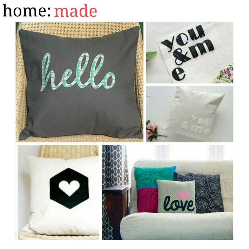 home: made [ appliqué cushion]