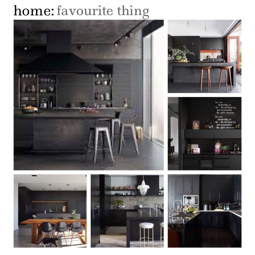 home: favourite thing [ black kitchens ]