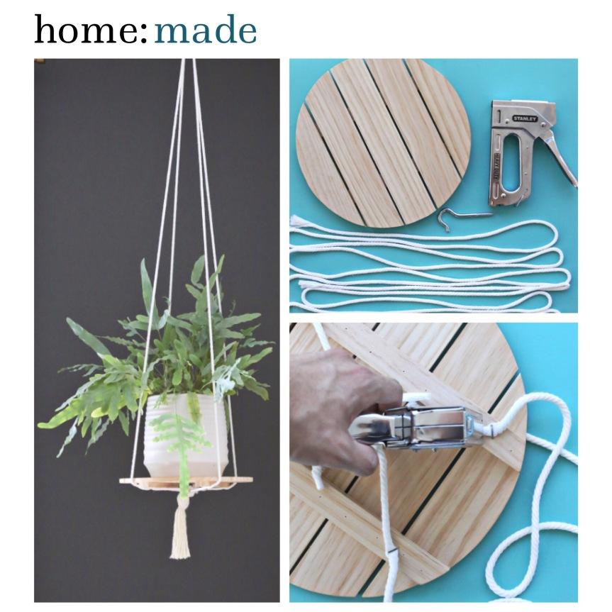 home: made [ hanging plant shelf ]