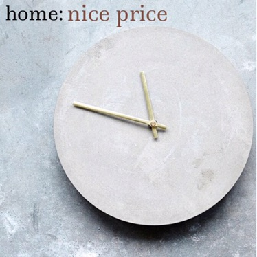 home: nice price [ concrete clock ]