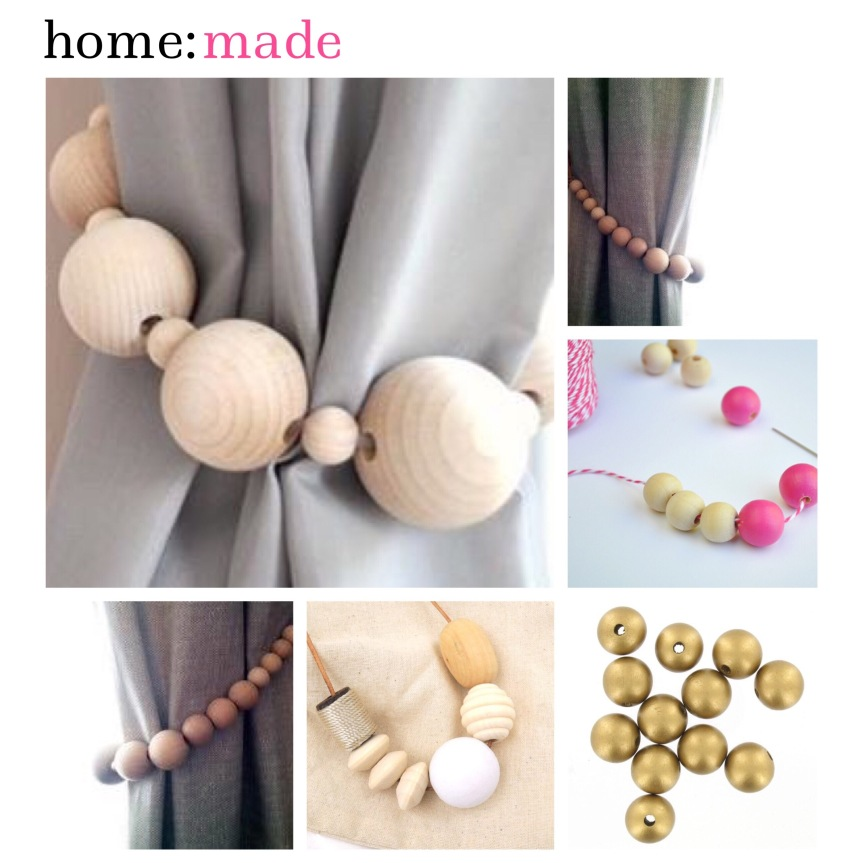 home: made [ curtain tie backs ]