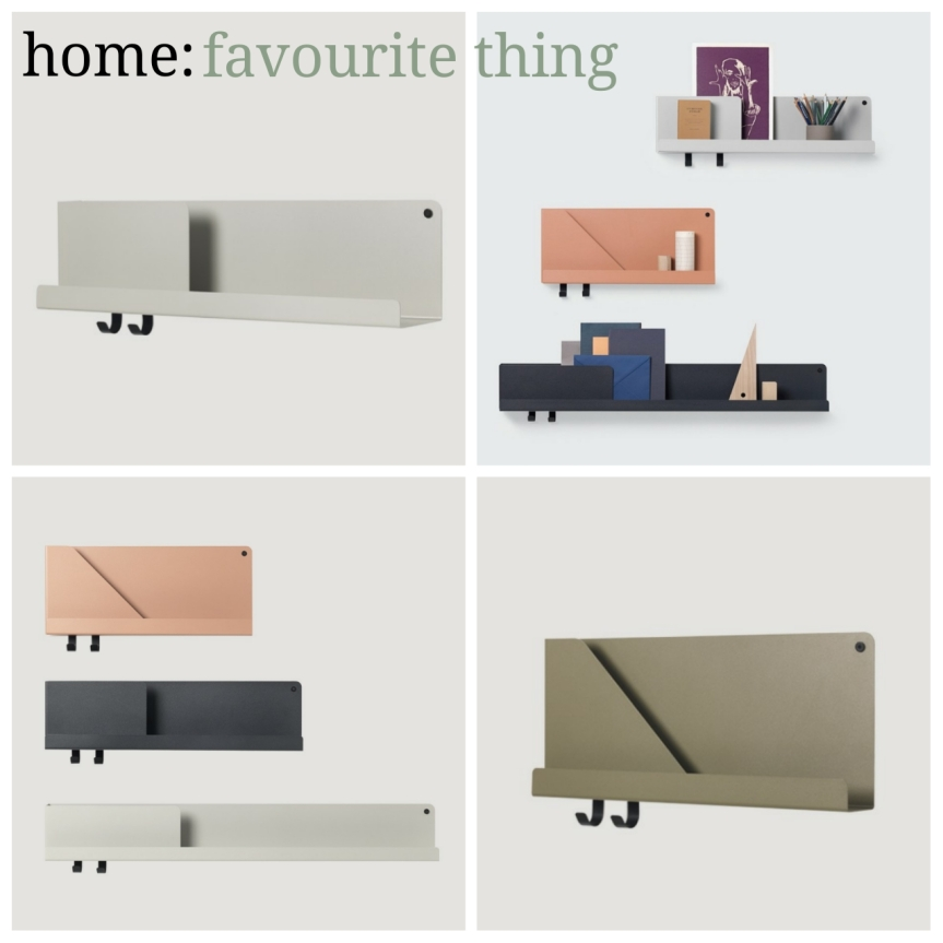 home: favourite thing [ folded shelves ]