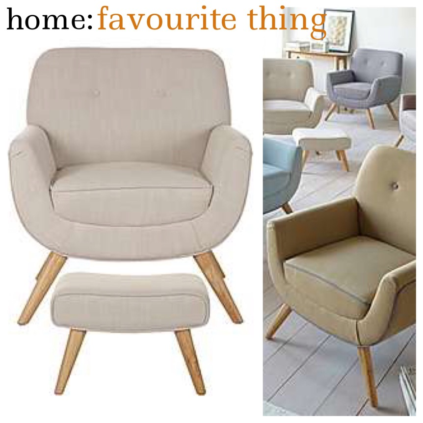 home: favourite thing [ armchair and footstool ]