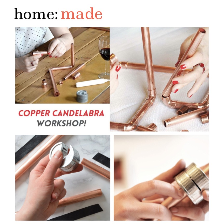 home: made [ copper candle holder]