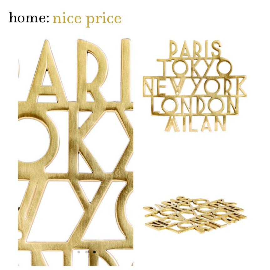 home: nice price [ trivet ]