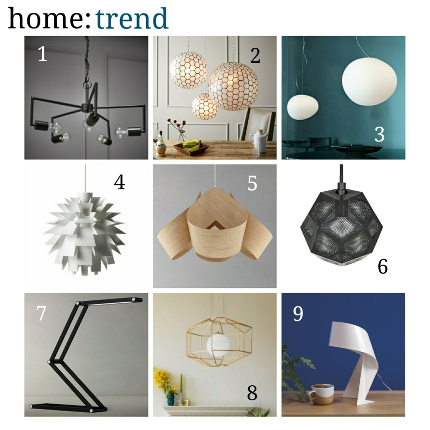 home: trend [ sculptured lighting ]