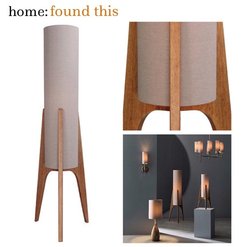home: found this [ retro style floor lamp ]