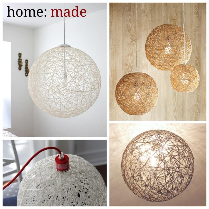 home: made [ string light shade]