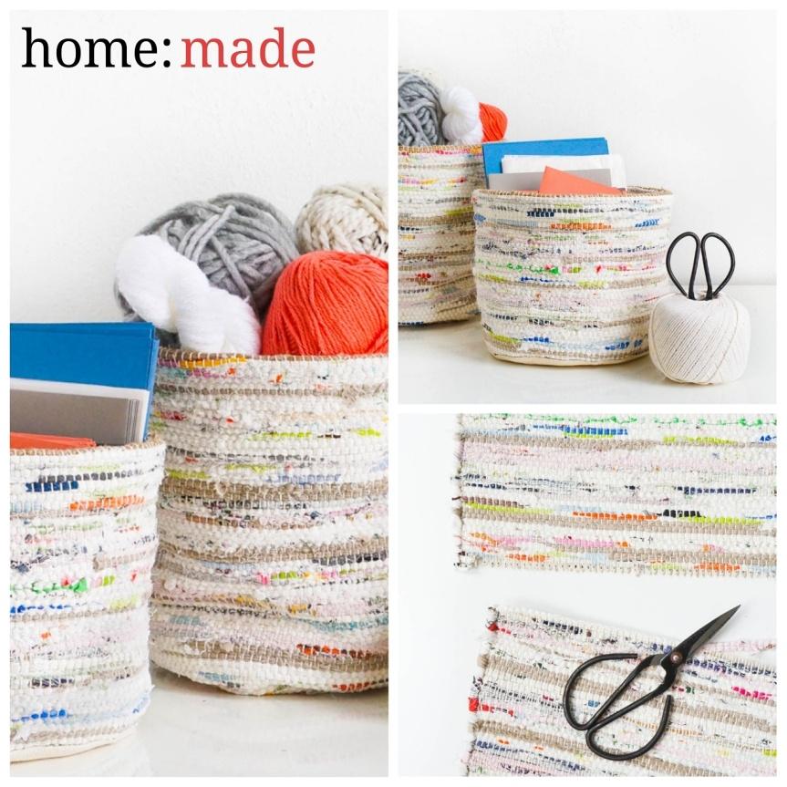 home: made [ rag rug baskets]
