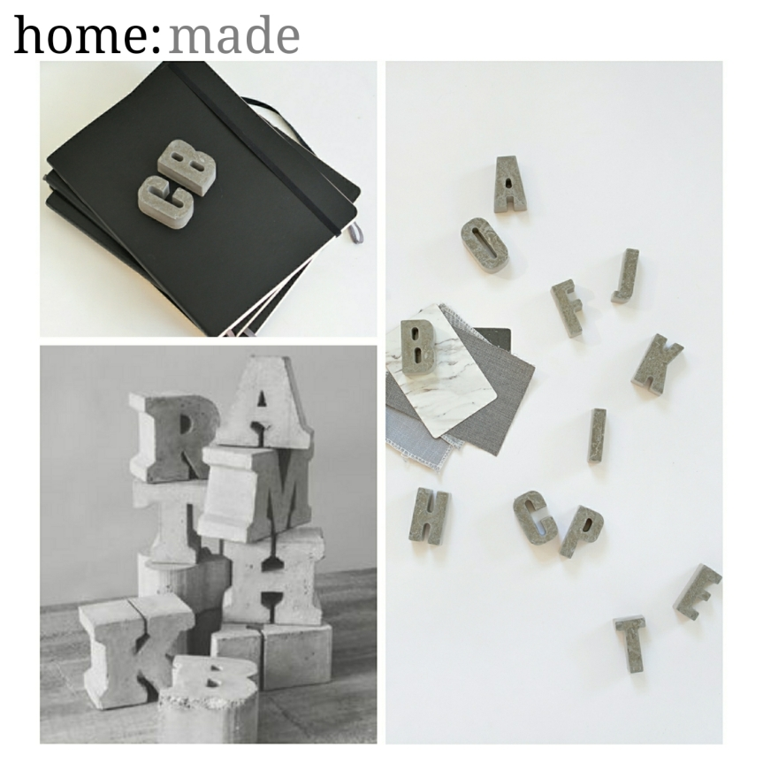 home: made [ concrete letters ]
