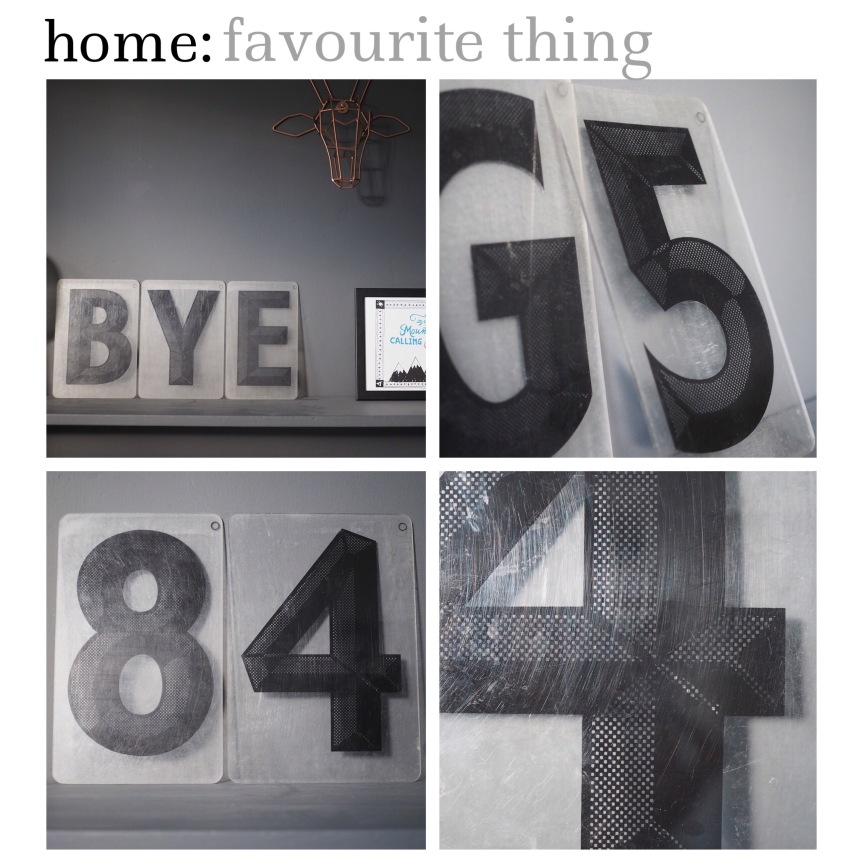 home: favourite thing [ vintage sign letters ]