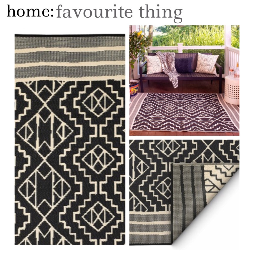 home: favourite thing [ outdoor rug ]