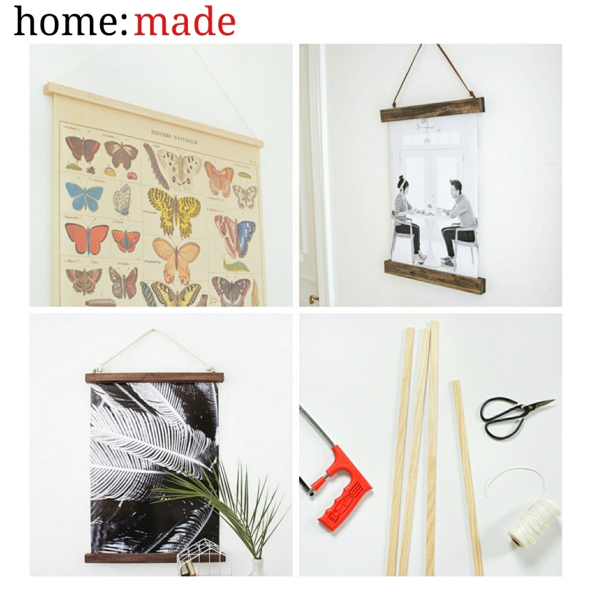home: made [ hanging poster frame ]
