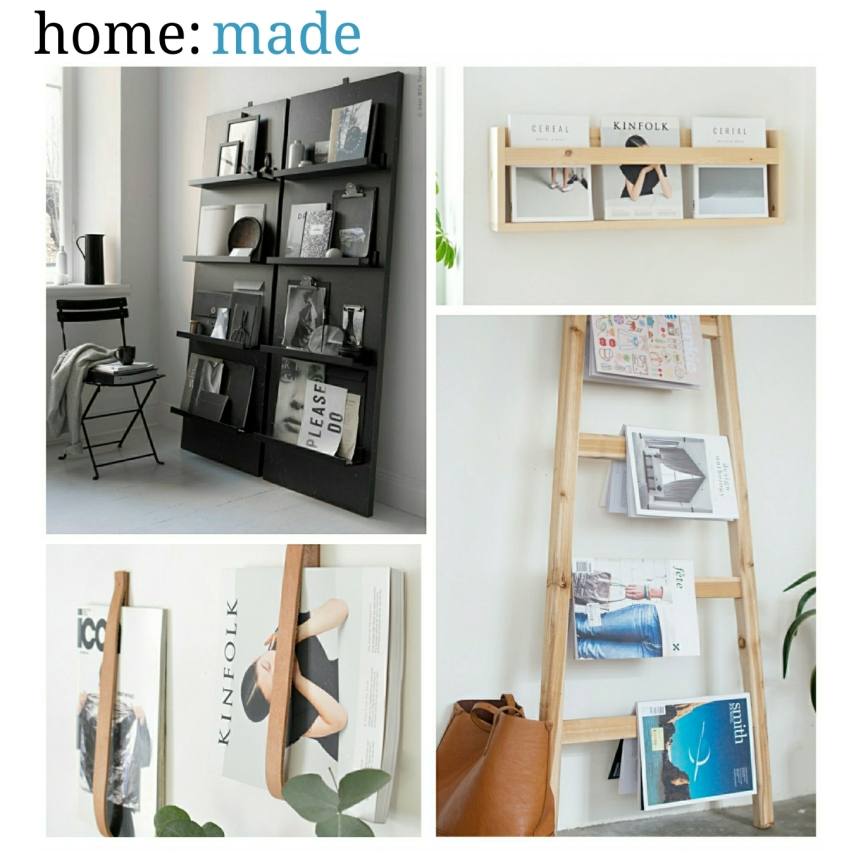 home: made [ magazine shelves ]