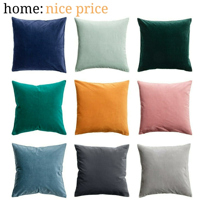 home: nice price [ velvet cushion ]