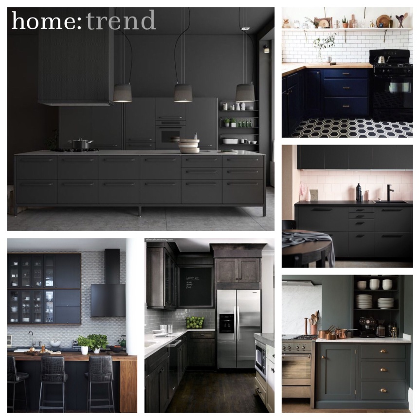 home: trend [ dark kitchens ]