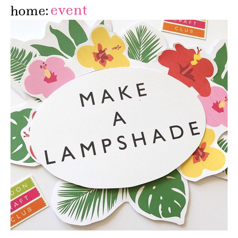 home: event [ make a lampshade ]