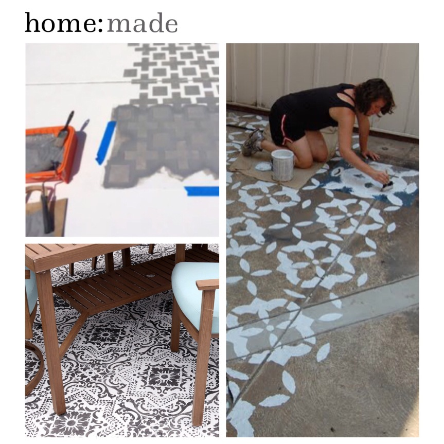 home: made [ outdoor patio stencilling ]