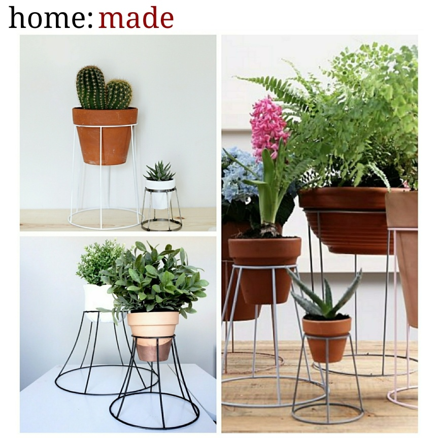 home: made [ lampshade plant stand ]
